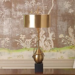 Global Views 9.91963 2 Light Accent Table Lamp Brass Lamps Accent