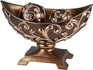 Ore International K-4281B 11 Odysseus Baroque Bowl W/Spheres, Brown