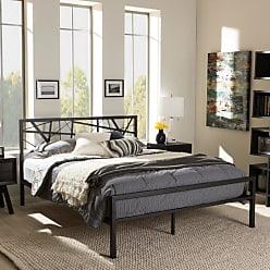 Baxton Studio Barkley Metal Platform Bed, Size: Queen,Full - TS-BARKLEY-BLACK-FULL