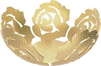 Alessi La Rosa Brass Fruit Bowl