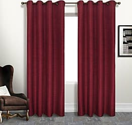 United Curtain Brighton Window Curtain Panel, 54 by 63-Inch, Brick