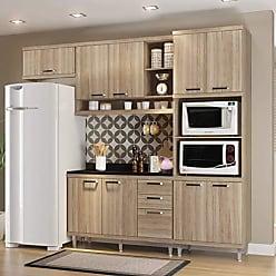 Multimóveis Cozinha Completa com Balcão com Tampo 5 Peças 9 Portas Sicília Multimóveis Argila