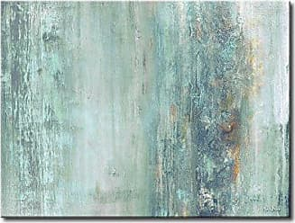 Ready2HangArt Abstract Spa Modern Contemporary Gallery Wrapped Canvas Print, 30 x 40, Blue
