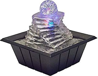 Ore International FT-1219 8 Spiral Ice Table Fountain W/Multi Lights, Blue