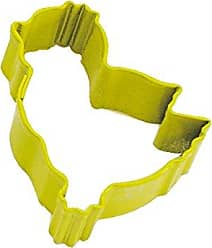CybrTrayd R&M Mini Chick Cookie Cutter Yellow With Brightly Colored, Durable, Baked-on Polyresin Finish