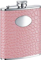 Visol Products VisolAnnabella Synthetic Leather Stainless Steel Hip Flask, 6-Ounce, Pink