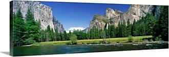 Great Big Canvas Bridal Veil Falls Yosemite National Park Thick-Wrap Canvas Wall Art Print - 81974_24_36X12_NONE