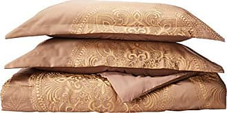 Chic Home 9 Piece Orchard Place Faux Silk Luxury Large Medalion Jacquard with Embroidery Details and Trims King Comforter Set Gold