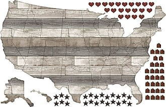 24 by 36-Inch ArtWall ArtApeelz Boundaries Removable Graphic Wall Art by Dean Uhlinger