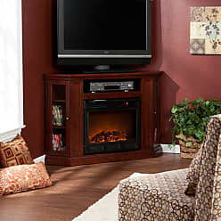 Southern Enterprises Claremont Convertible Cherry Electric Fireplace Media Console - FE9310