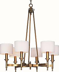 Maxim Lighting Fairmont 6-Light Chandelier In Natural Aged Brass Finish