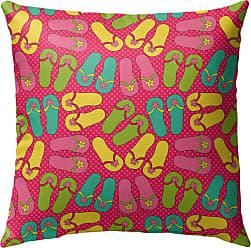 Kavka Designs Sandals Pink Outdoor Pillow - OPI-OP16-16X16-NOR297
