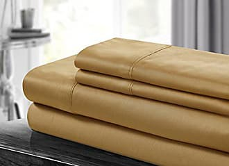 Chic Home 500 Thread Count Sheet Set, Queen, Gold