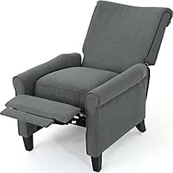 GDF Studio Christopher Knight Home 302091 Charlene Recliner Chair, Charcoal