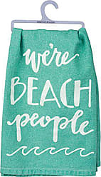 Primitives By Kathy Hand-Lettered Dish Towel, 28, Were Were Beach People