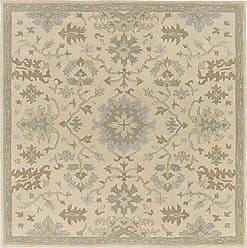 Surya CAE1161-6SQ Caesar Neutral Area Rug, 6 Square, Beige/Dark Green/Light Gray/Olive/Tan