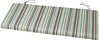 Cushion Source 50 x 19 in. Striped Sunbrella Bench Cushion Davidson Redwood - GIAC6-5606
