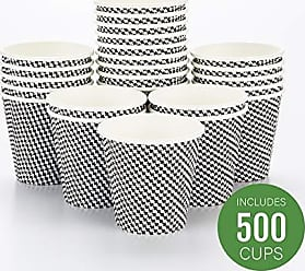 Restaurantware RWA0302BH Spiral Wall Disposable Coffee Cup, 8 oz, Houndstooth