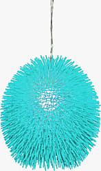Varaluz Recycled Urchin Pendant - One Light Aqua Velvet