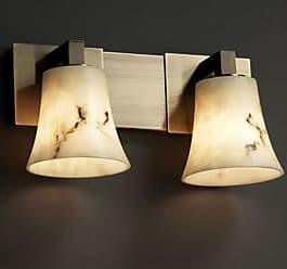 Justice Design LumenAria Modular FAL-8922-20 Bathroom Vanity Light with Flared Shade - FAL-8922-20-NCKL