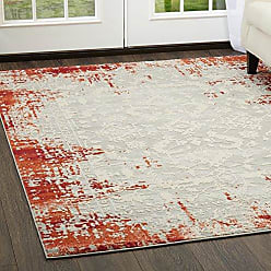 Home Dynamix Palmyra Piet Area Rug 79x102, Distressed Red