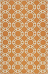 Kaleen Rugs Brisa Collection BRI05-89A Orange Handmade 2 x 3 Rug