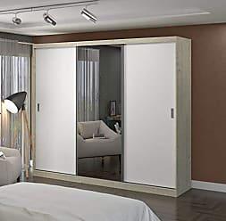 FOSCARINI Guarda Roupa Casal com Espelho 3 Portas de Correr 4 Gavetas 1902E1 Foscarini Marfim Areia/Branco