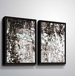 Brushstone Reflection IV Panel Wall Art - 2 Piece Set Framed - 6ARY061B2432F