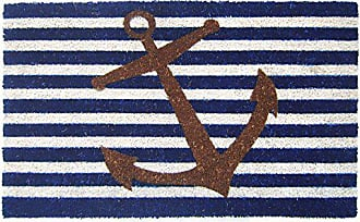 Geo Crafts Vinyl Back Nautical Anchor Doormat