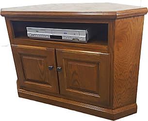 American Heartland Oak Corner TV Cart - Assorted Finishes - 46730LT