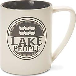Pavilion Gift Company 67002 Lake People Ceramic Mug, 18 oz, Multicolored