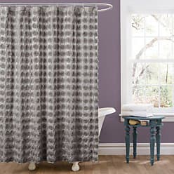 Lush Décor Emma Shower Curtain, 72 by 72-Inch, Gray