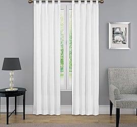 Ellery Homestyles Pairs to Go Montana Curtain Panel Pair, 84 x 60, White