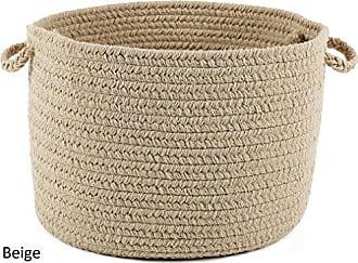 Rhody Rug Fun Braids Solid Sand Beige 10 x 8 Basket