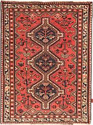 Nain Trading Shiraz Rug 56x42 Brown/Orange (Iran/Persia, Wool, Hand-Knotted)