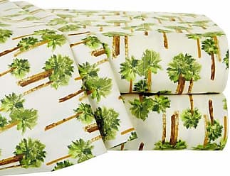 Elite Home Products Palm Tree Printed Sheet Set - Lvory - Size: Full