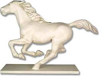 Orlandi Statuary Midnite Flyer Racing Horse Statue - F7157GALLOPINGHORSE