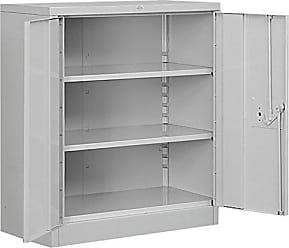 Salsbury Industries Counter Height Heavy Duty Storage Cabinet, Unassembled, Gray