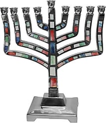 Ben&Jonah Ben & Jonah Lamp Lighters Ultimate Judaica Menorah Pewter Multi-Color - 9 H, Multicolor