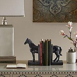Madison Park Horse Bookends, Metalic Glaze Black