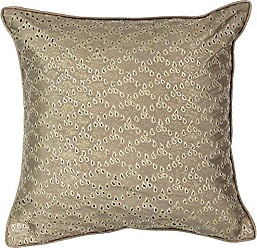Ellery Homestyles Beautyrest Sandrine Eyelet Decorative Pillow, 16x16, Gold