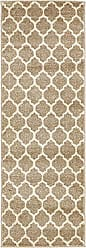 Unique Loom Trellis Collection Moroccan Lattice Tan Runner Rug (2 x 6)