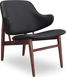 Kardiel Larsen Shell Modern Accent Chair Black - LARSEN-ITLN-BLK-WAL