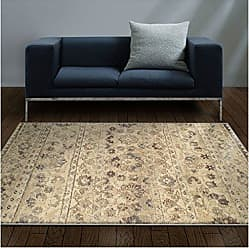 Home City Inc. Superior Fawn Collection Area Rug, 8mm Pile Height with Jute Backing, Chic Distressed Floral Medallion Pattern, Fashionable and Affordable Woven Rugs - 8 x 10 Rug, Beige