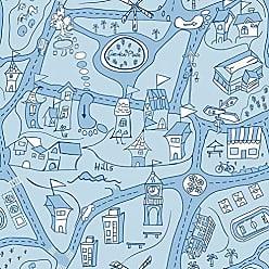 Portodesign Papel de Parede Vinílico Rolo Dreamland DR11901 Porto Design Azul