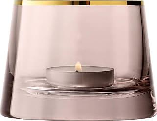 Lsa International Sorbet Gl Tealight Holder Cinnamon