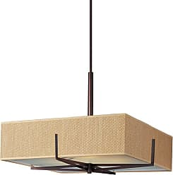 ET2 E95348 Elements 3 Light 26 Pendant with Square Grass Cloth Shade