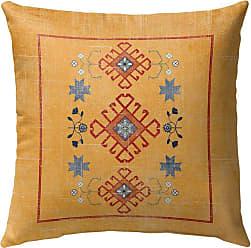 Kavka Designs Baize Distressed Outdoor Pillow Orange - OPI-OP16-16X16-TEL8345