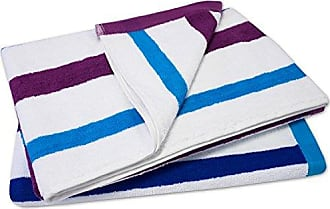 Sweet Home Collection 100% Cotton Calypso Stripe Beach Towel (2 Pack), 30 x 60, Royal Blue
