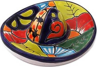 Novica Ceramic figurine, Talavera Sombrero
